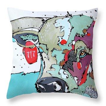 Longhorn No. 717 Throw Pillow