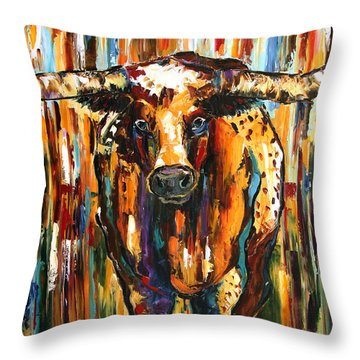 Longhorn Way  Throw Pillow