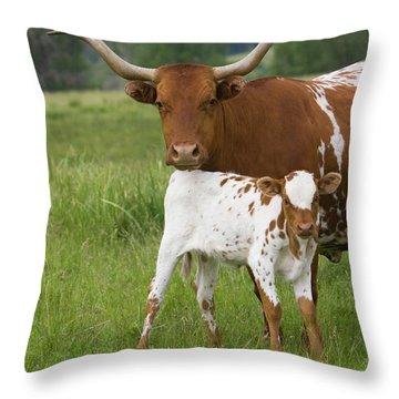 Longhorns Throw Pillow