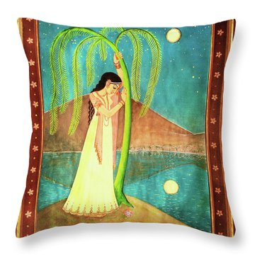 Longing For Her Love Throw Pillow