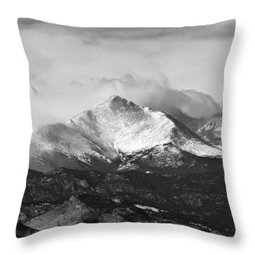 Longs Peak And A Mean Storm Throw Pillow by James BO  Insogna