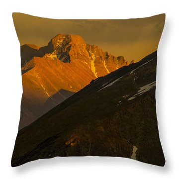 Long's Peak Throw Pillow by Gary Lengyel