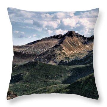 Longs Peak Throw Pillow