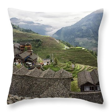 Longsheng Throw Pillow by Wade Aiken