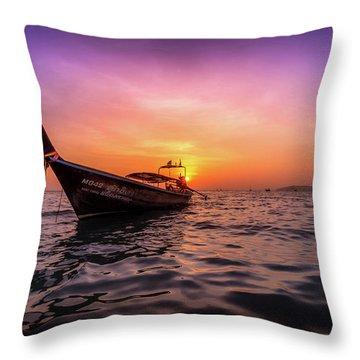 Longtail Sunset Throw Pillow