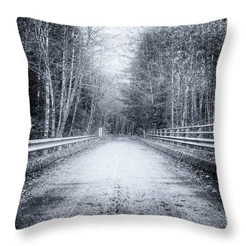 Lonliness Highway Throw Pillow by Spencer McDonald
