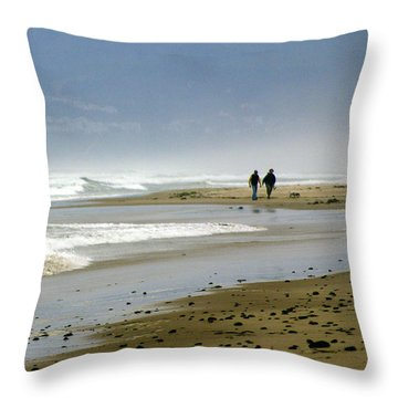 Lonly Beach Throw Pillow by Marty Koch