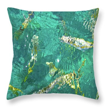Looe Key Reef Throw Pillow by Charles Harden