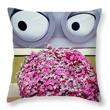 Look At Those Flowers Throw Pillow