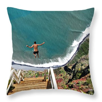 Look Before You Leap Throw Pillow