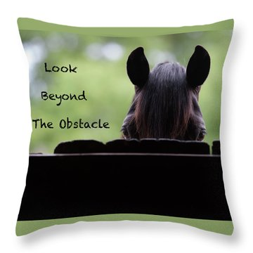 Look Beyond The Obstacle Throw Pillow