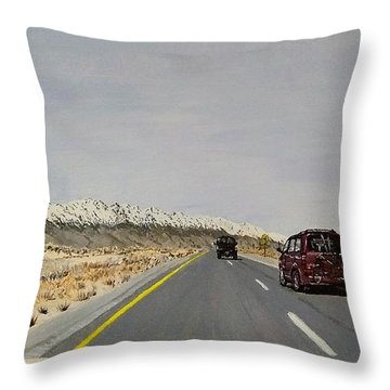 Throw Pillow featuring the painting Look For America by Kevin Daly