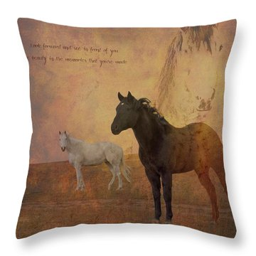 Look Forward Throw Pillow