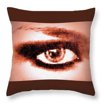 Throw Pillow featuring the digital art Look Into My Eye by Paula Ayers
