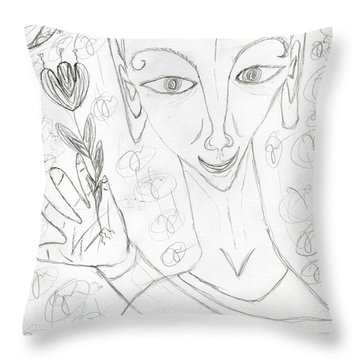 Look Into My Eyes. Love Throw Pillow