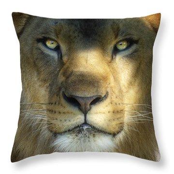 Look Into My Eyes Throw Pillow by Saija  Lehtonen