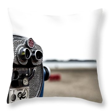 Throw Pillow featuring the photograph Look  by Lora Lee Chapman