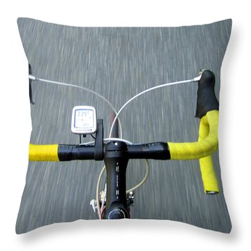 Look Ma     No Hands Throw Pillow