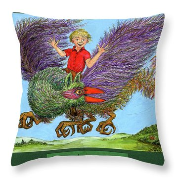Look No Hands Throw Pillow by Charles Cater