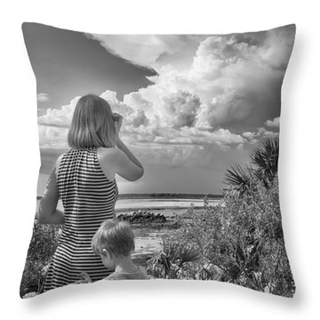 Throw Pillow featuring the photograph Look Out by Howard Salmon
