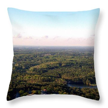 Look Out Mountain Throw Pillow by Debra Forand