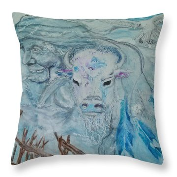 Look To The Past For Tomorrow Throw Pillow