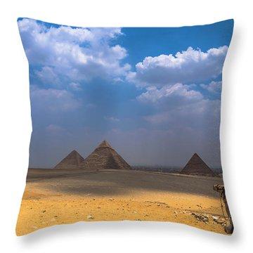 Look Towards The Ancient Wonder Throw Pillow