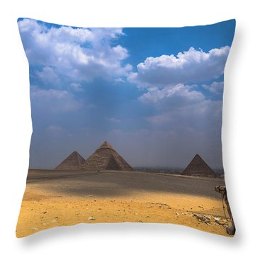 Throw Pillow featuring the photograph Look Towards The Ancient Wonder by Julis Simo