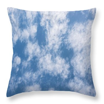 Look Up Not Down Clouds Throw Pillow by Terry DeLuco