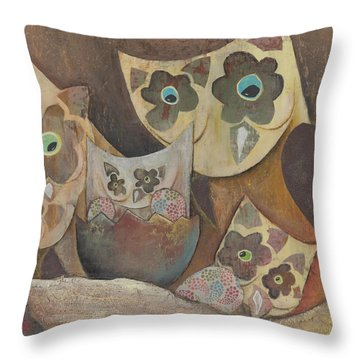Look Who  Throw Pillow