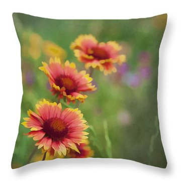 Throw Pillow featuring the photograph Look...a Flower by John Crothers