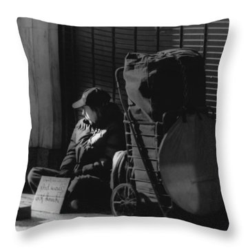 Throw Pillow featuring the photograph Looked The Other Way by Jose Rojas