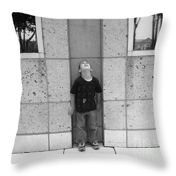 Looken Up Throw Pillow by Michelle S White