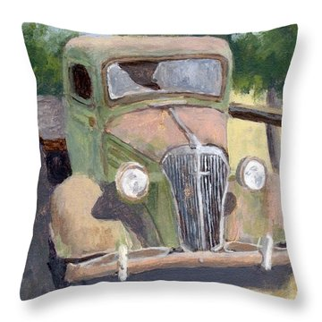 Lookin' Back Throw Pillow