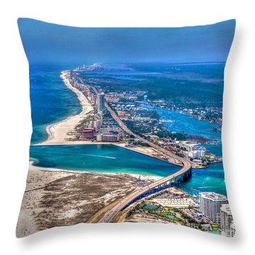 Looking West Across Perdio Pass Throw Pillow