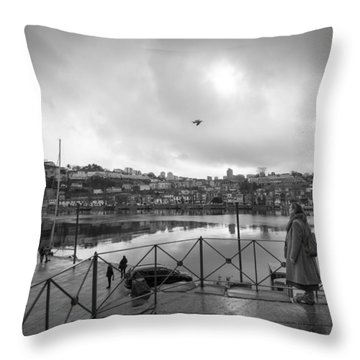 Looking And Passing By Throw Pillow