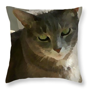 Looking Angelic Throw Pillow