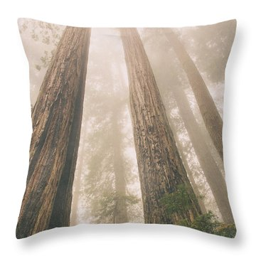 Looking At Giants Throw Pillow