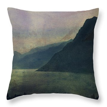 Looking At The Lake... Throw Pillow