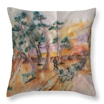 Looking At Van Gogh Album Throw Pillow