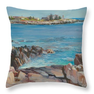 Looking At Walkers Point Estate  Throw Pillow