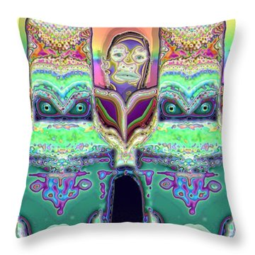 Throw Pillow featuring the digital art Looking At You by Ron Bissett