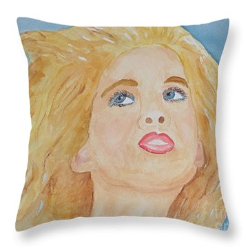Throw Pillow featuring the painting Looking Back by Sandy McIntire