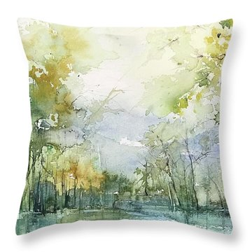 Beyond The Trees Throw Pillow