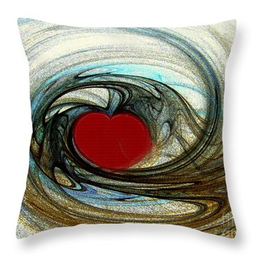 Looking Deep Into Your Heart Throw Pillow