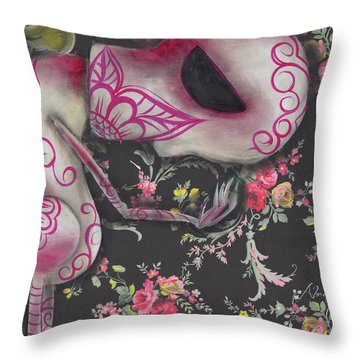Looking Down Throw Pillow by Abril Andrade Griffith