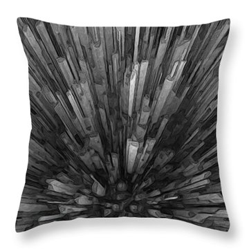 Looking Down At Downtown Throw Pillow