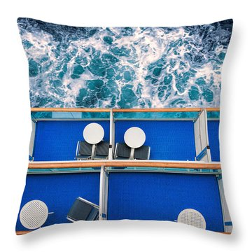 Looking Down At Sea Throw Pillow