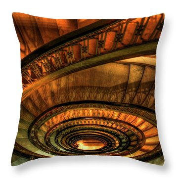 Looking Down The Ponce Stairs Opened In 1913 Throw Pillow by Reid Callaway