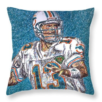 Looking Downfield Throw Pillow by Maria Arango